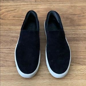 Vince Black Suede Slip On Sneakers Size 35